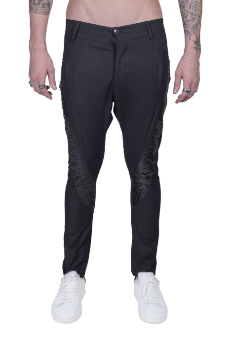 Luxury_Python_Leather_Pant_Karl_Front_Max_Macchina_Paris