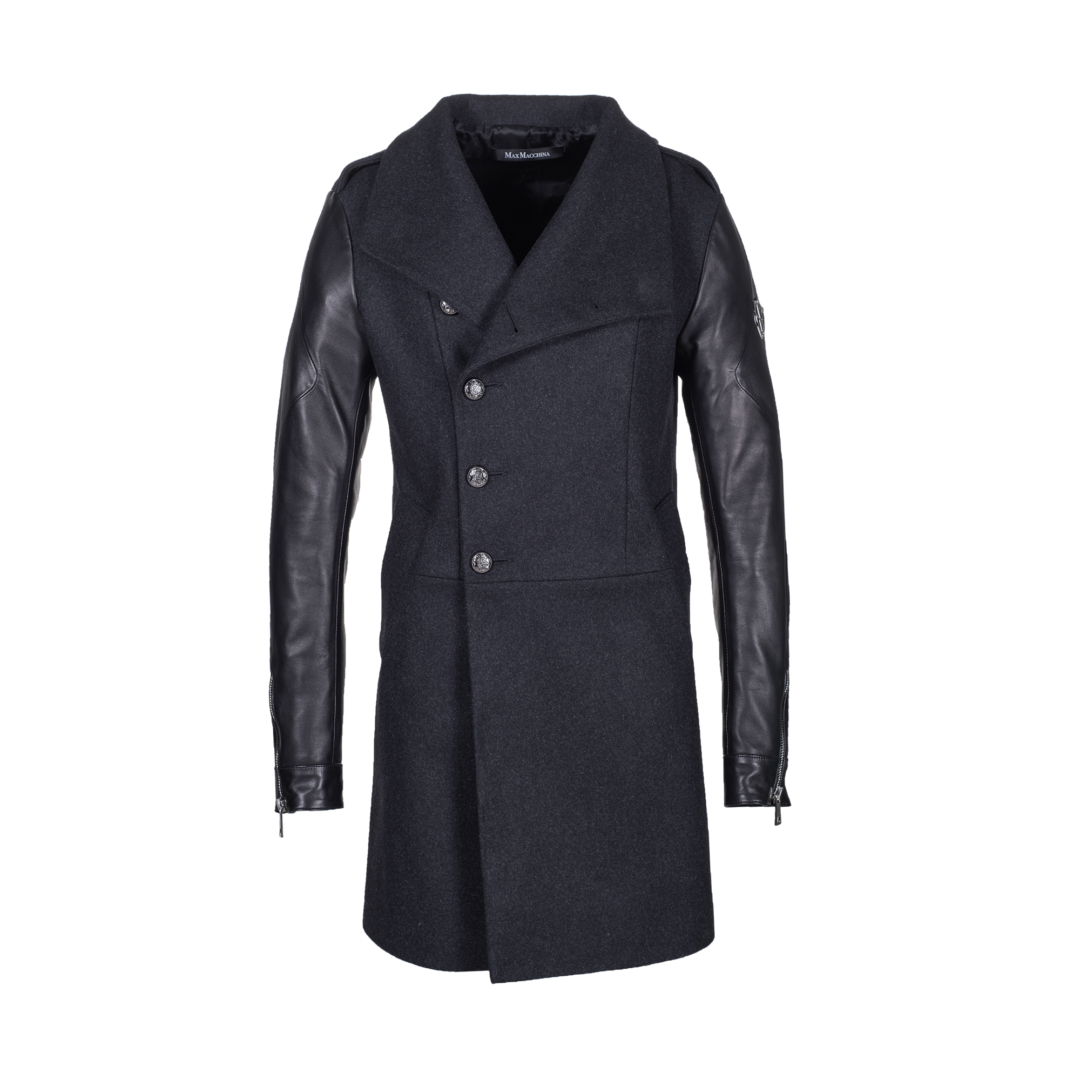 Luxury_Wool_Leather_Coat_Eddie_Front_open