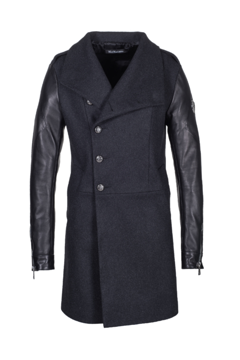 Luxury_Wool_Leather_Coat_Eddie_Front_open